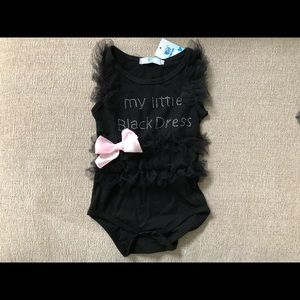 Other - Little black dress onesie